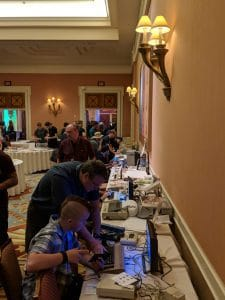Mobile Museum of Vintage Technology - Computer Setup at DEF CON 26